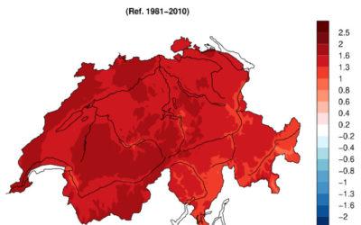 2020, année la plus chaude en Suisse